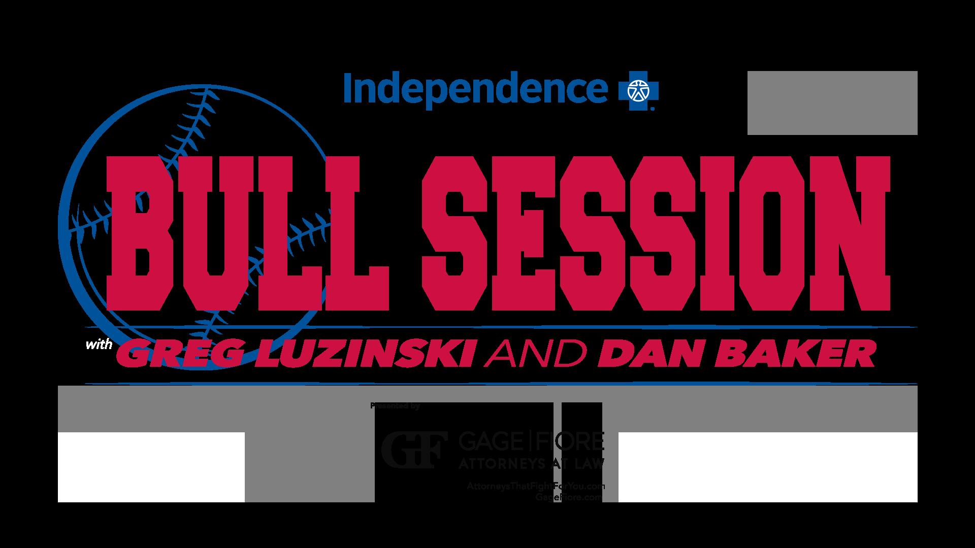 Bull Session Logo with Greg Luzinski and Dan Baker